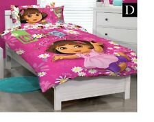 DOUBLE BED NICKELODEON DORA THE EXPLORER PINK QUILT DOONA COVER & PILLOWCASE SET