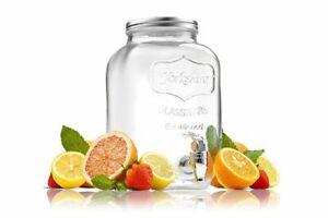 4L Beverage Drink Dispenser with Tap, Glass Jar, Kombucha Brewing Vessel