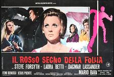 CINEMA-fotobusta IL ROSSO SEGNO DELLA FOLLIA m. bava