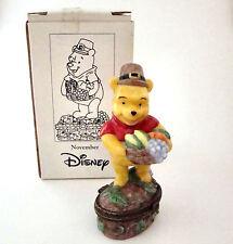 Disney Store Porcelain Hinged Box Pooh NOVEMBER