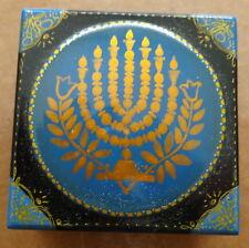 Box *Menorah*Blue Wood Jewish Russianmade Judaica
