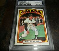 1972 SIGNED Topps #567 JUAN MARICHAL AUTO SAN FRANCISCO GIANTS PSA/DNA