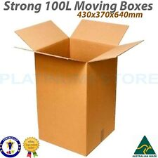25 x 100L Tea Chest Cardboard Moving Boxes Removalist Packing Carton Box