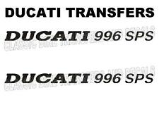 Ducati 996 SPS Side Panel Transfers Decals Motorcycle Sold as a Pair Black