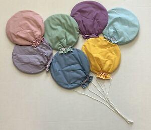 Nursery Bedroom Wall Hanging Bunch Balloons Handmade Vintage Pastel Material