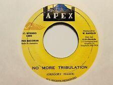 "Gregory Isaacs ""No More Tribulation"" and ""Version"" 1993 APEX Records Reggae"