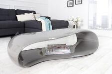 Table basse Gravity gris 110cm Haute Brillance fibre de verre design salon