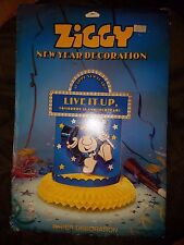 Vintage Ziggy Live it Up Happy New Year American Greetings Honeycomb Decoration
