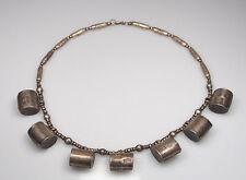 Antik orient Afghan Nomaden Silber Kette antique Banjara silver necklace  No:23
