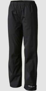 $79 Columbia Boy's Kids Black Waterproof Hiking Elastic Waist Rain Pants Size XL