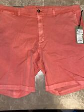 "Goodfellow Linden Chino Shorts Men's 9"" Inseam Size 42 Pink Stretch"
