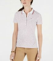 Tommy Hilfiger Womens White Multi Star Polo Size M