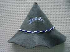 NEW One Size Gray Felt Octoberfest Embroidered Pointy Hat