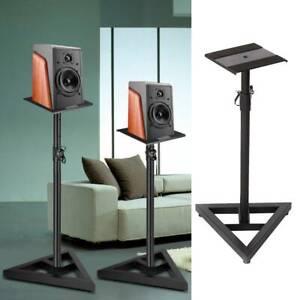 2pcs Monitor Speaker Stands Adjustable DJ Studio Monitor Stands Steel New UK