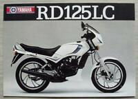 YAMAHA RD125LC MOTORCYCLE Sales Specification Leaflet 1982 #LIT-3MC-0107565-82