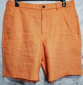 BROOKS BROTHERS 346 Men's Shorts Size :W36 Orange , 100% Linen. NWOT.