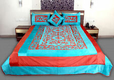 Velvet 5 Piece Bed Cover Designer Silk Cushion Bed Cover Set