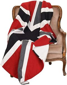 Union Jack Flag Heavyweight Wool Throw Blanket - 150cm x 130cm