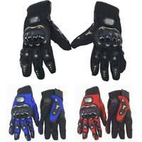 Motorcycle Gloves Leather Motorbike Waterproof Thermal Winter Summer UK