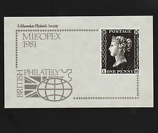 Opc 1981 Milwaukee Philatelic Society Milcopex Souvenir Card 5.5 x 3.5""