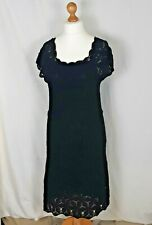 Jaeger Black Dress Crochet Size Medium Needs Small Repair