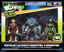 Ben 10 Ultimate Alien 3x Figures Box Set Heatblast Ultimate Swampfire Bandai