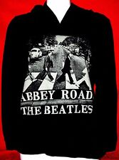 THE BEATLES ABBEY ROAD BLACK HOODED PULLOVER W KANGAROO POCKET SIZE SMALL/COTTON