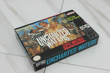 AUTHENTIC Uncharted Waters * ORIGINAL * SNES Super Nintendo game BOX ONLY