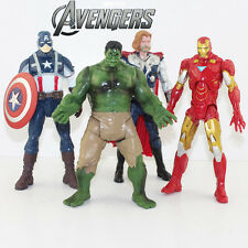 THE AVENGERS/ LOTE 4 PCS 20 CM THOR HULK IRON MAN CAPITAN AMERICA 7,9""