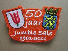 50 Jaar Jumble Sale Scouts Guides Cloth Patch Badge Boy Scouts Scouting (L2K)