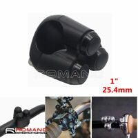 """3 Button Motorcycle 1"""" 25mm Handlebar Control Switch For Harley Cafe Racer Black"""