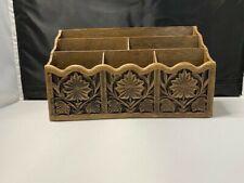 Vintage Lerner Organizer Desk Top Holder Decorative Faux Wood Mail Letter