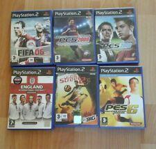 PS2 Football Soccer Games PES FIFA Street2 England Int Booklets JOB LOT X 6