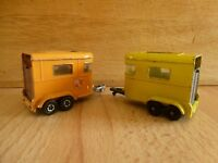 Vintage Lesney Matchbox Series No. 43 and Superfast Pony Trailers Pair of