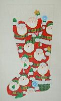 Needlepoint HandPainted Dede CHRISTMAS Stocking SANTA 15x24