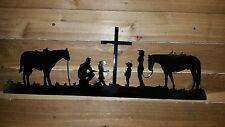 "20"" PRAYING COWBOY FAMILY  Hand Made in Waco Texas"