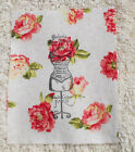 Fabric Sample--11 cm x Wide x 14 cm High ----Shabby Chic Style--Raw edge