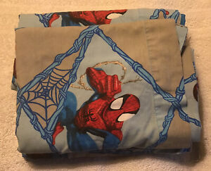 2006 Marvel SPIDERMAN Twin Size Flat Sheet Only