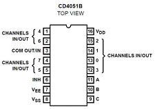 4 X CD4051BE 8 Channel Multiplexeur IC 's + 4 x IC Sockets-ENVOI GRATUIT