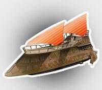Jabbas Sail Barge The Khetanna car laptop sticker