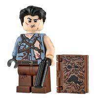 Custom Printed GROOVY SLASHER Ash Evil Dead Minifigure -Genuine Lego -NEW