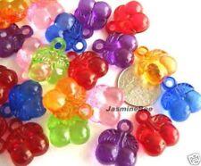 Cherry Berry Grape Fruit Acrylic Plastic Charm Beads 30
