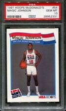 PSA 10 MAGIC JOHNSON 1991-92 HOOPS MCDONALD'S OLYMPIC USA DREAM TEAM GEM MINT