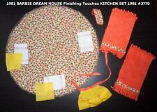 1981 BARBIE DREAM HOUSE Finishing Touches KITCHEN SET 1981 #3770