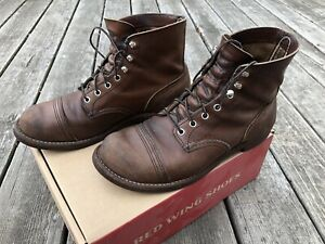 Red Wing 8111 Iron Ranger Amber Harness 9.5 D Brown Cap Toe Boots