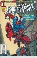 Web of Scarlet Spider #1 Spiderman 1995 Marvel Comic Superhero Peter Parker
