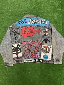 Vintage Levis Denim Trucker Jacket Custom Art