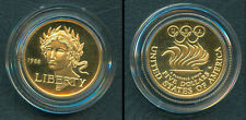 1988 OLYMPICS US Liberty $5 Five Dollars Commemorative PROOF Gold Coin S Korea