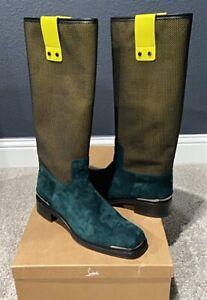 Authentic Christian Louboutin x James Long Suede Mesh Mens Boots US12 EU45 UK11