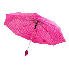 Nuevas damas Juicy Couture Rosa Paraguas Plegable Compacto Telescópico caminar Brolly